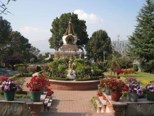 Nepal Tibetisches Kloster Garten