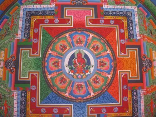 Nepal buddhistisches Kloster Mandala