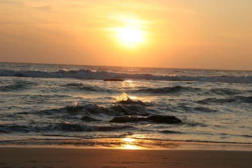 Sri Lanka Sonnenuntergang am Strand