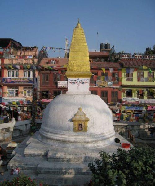 Klosterreisen Nepal Kathmandu Swoyambounath Stupa