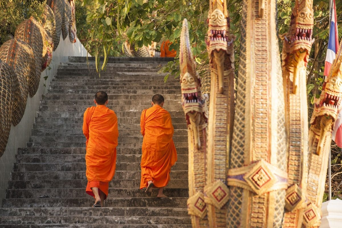 Buddhistisches Retreat im Chiang Mai Kloster, Thailand